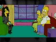 Marge y Homero Simpson en un trio de Sexo