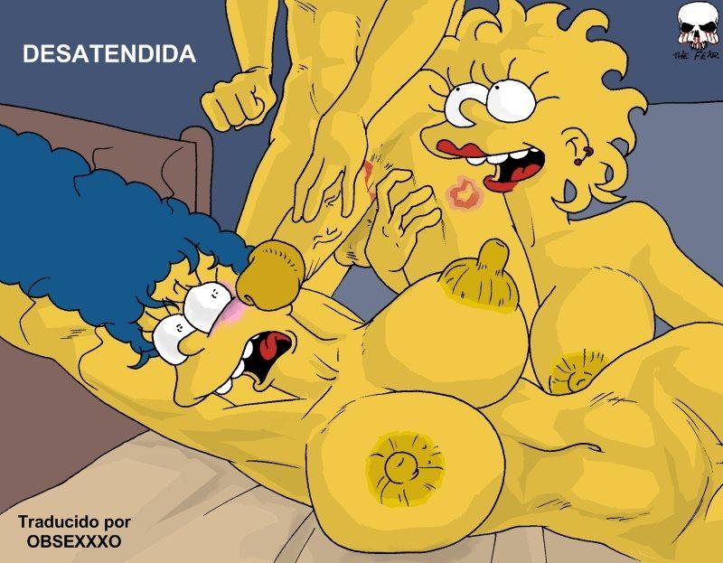 Marge borracha follada por su hijo Bart