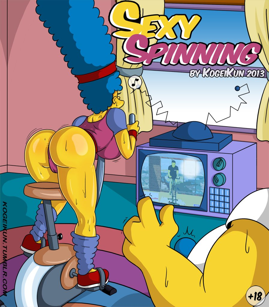 Marge Simpson en Comic de sexo anal duro