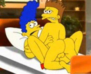 Marge le mete los cuernos a Homero