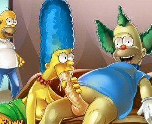 Video porno xxx Los Simpsons
