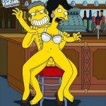 sexo en el bar de moe los simpson porno