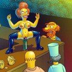 simpsons-porno en el bar