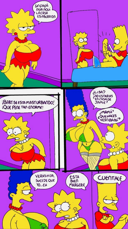 Bart Y Lisa Comics Porno solos en casa marge follando con lisa y bart | los simpsons