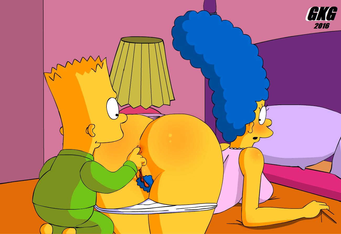 Marge se deja penetrar el culo.