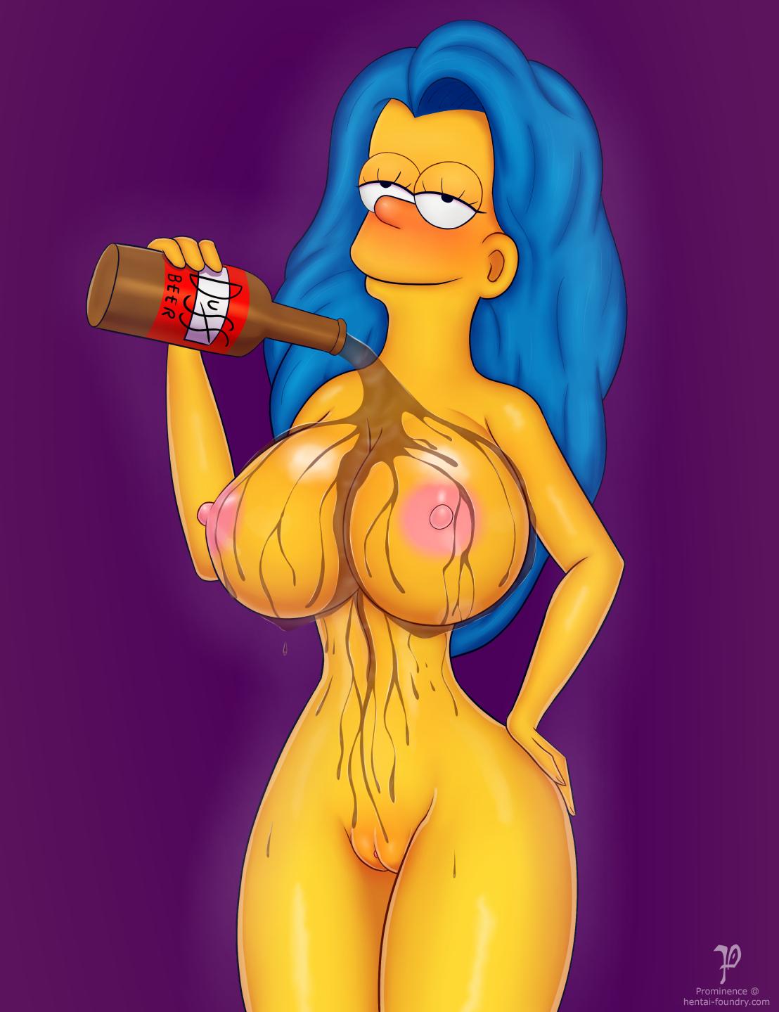 Marge se baña en cerveza