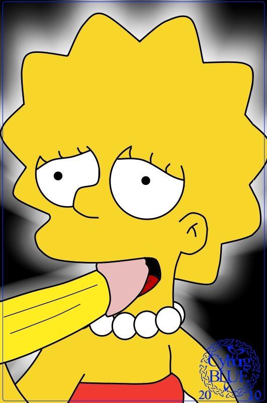 Lisa Simpsons mamando una buena polla