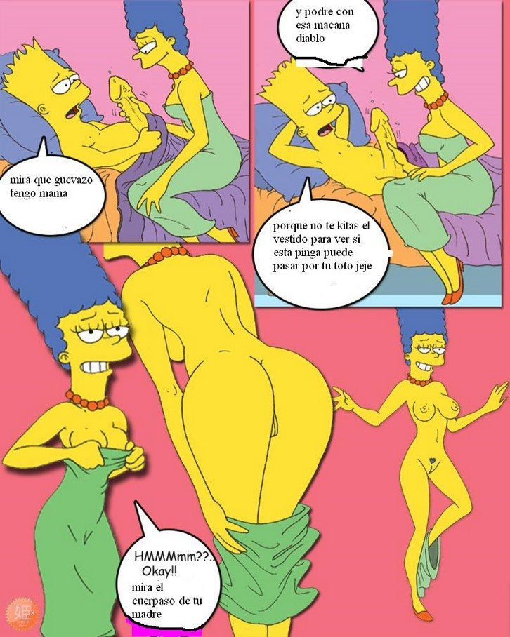 los-simpsons-bart-y-hugo-se-follan-marge-y-lisa 2