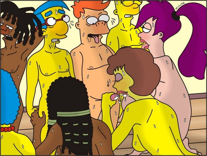 los-simpsons-y-futurama-mini-comics-porno 2