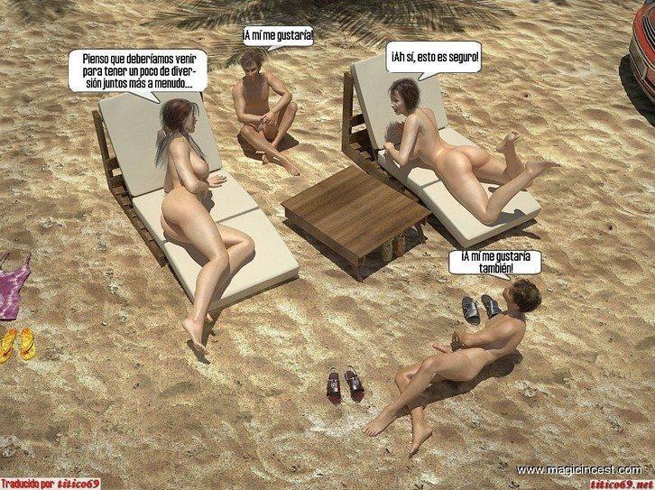 Orgia familiar en la playa